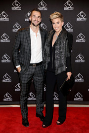 Savannah Chrisley kept it low-key in a black pantsuit at the E3 Chophouse Nashville grand opening.