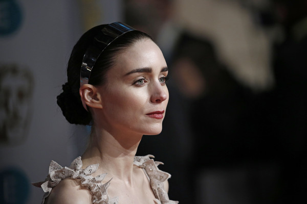 Rooney Mara was boho-glam with her braided chignon at the 2016 EE British Academy Film Awards.