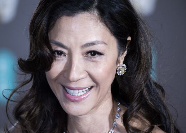More Pics of Michelle Yeoh Long Curls (1 of 4) - Long Hairstyles Lookbook - StyleBistro [hair,face,eyebrow,facial expression,lip,chin,smile,nose,beauty,skin,red carpet arrivals,michelle yeoh,ee,london,england,royal albert hall,british academy film awards]
