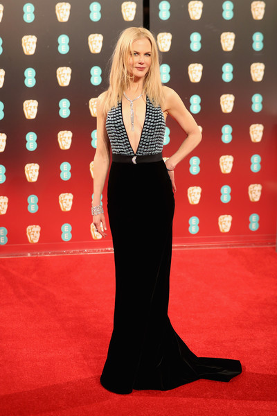 Nicole Kidman in Armani Privé at the BAFTAS