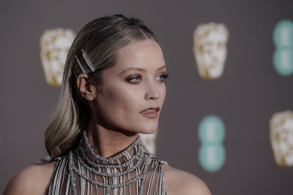 More Pics of Laura Whitmore Barrette (1 of 7) - Laura Whitmore Lookbook - StyleBistro [hair,face,hairstyle,beauty,fashion,eyebrow,skin,chin,lip,ear,red carpet arrivals,laura whitmore,ee,london,england,royal albert hall,british academy film awards]
