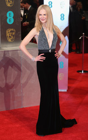 Nicole Kidman's plunging Armani Privé halter gown at the 2017 BAFTAs was a perfect blend of sexy and elegant!