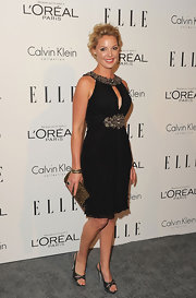 Katherine Heigl wore midnight melange bangles in black pave diamonds and midnight melange stack bangles in 18-carat yellow gold at the 'Elle' 18th Annual Women in Hollywood Tribute.