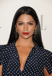 A bold red lip gave Camila Alves just the jolt of color she needed at the 'Elle' 18th Annual Women in Hollywood Tribute.