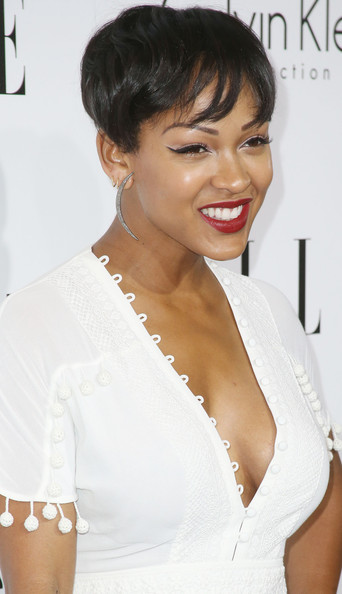 More Pics of Meagan Good Metallic Clutch (2 of 16) - Meagan Good Lookbook - StyleBistro