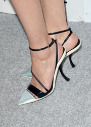 Marion Cotillard wore a fierce pair of strappy monochrome pointy pumps by Christian Dior to the Elle Women in Hollywood celebration.