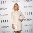 Caitlin Fitzgerald in a Lace Shift