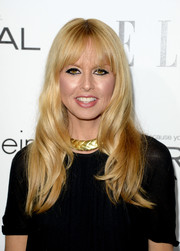 Rachel Zoe styled her locks with soft waves and wispy bangs for the Elle Women in Hollywood celebration.