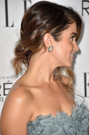 Nikki Reed looked romantic with her messy-glam updo at the Elle Women in Hollywood event.