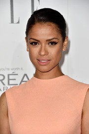 Gugu Mbatha-Raw kept it simple yet elegant with this side-parted bun at the Elle Women in Hollywood event.