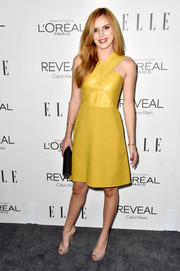 Bella Thorne brightened up the Elle Women in Hollywood event with this mustard-colored Gucci dress.