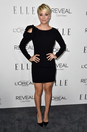 Kaley Cuoco opted for a Paule Ka cold-shoulder LBD when she attended the Elle Women in Hollywood event.