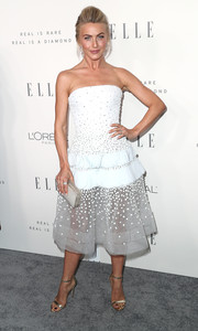 Julianne Hough was prom-glam in a strapless ice-blue cocktail dress by Georges Chakra Couture during Elle's Women in Hollywood celebration.