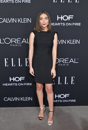 Rowan Blanchard worked the mismatched shoes trend with this black-and-white pair.