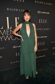 Nikki Reed bared some skin in a green keyhole-cutout gown at the 2019 Elle Women in Hollywood celebration.