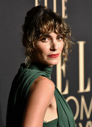Nikki Reed styled her hair into a curly updo for the 2019 Elle Women in Hollywood celebration.
