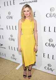 Laura Carmichael's sunshine yellow dress added a welcome burst of color to ELLE's Annual Women in Television Celebration.