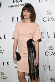 Mary Elizabeth Winstead looked fabulous at ELLE's Annual Women in Television Celebration in a nude shift dress with a unique tassel detail.