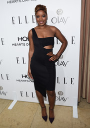 Keke Palmer looked hot in a revealing cutout dress at ELLE's Annual Women in Television Celebration.