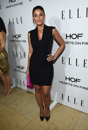 Emmanuelle Chriqui kept things simple at ELLE's Annual Women in Television Celebration in a figure hugging LBD.