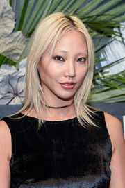 Soo Joo Park framed her face with a trendy layered cut for the ELLE, E! and IMG NYFW kickoff event.