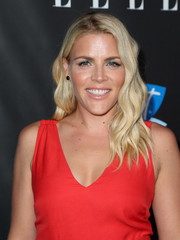 Busy Philipps' blonde waves made a striking contrast to her red outfit at the Elle Women in Comedy event.
