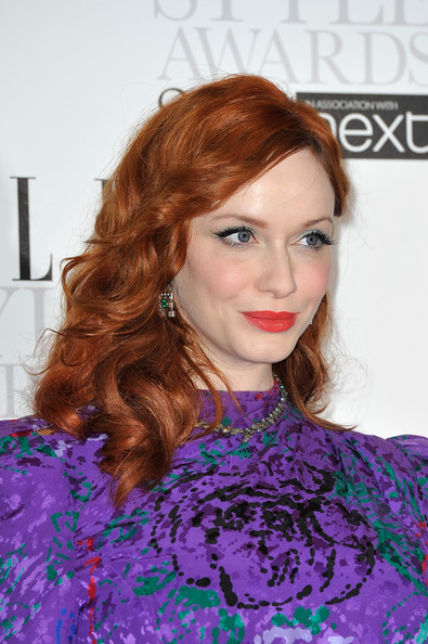 More Pics of Christina Hendricks Bright Eyeshadow (1 of 10) - Christina Hendricks Lookbook - StyleBistro