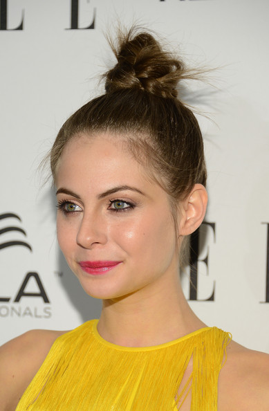 More Pics of Willa Holland Twisted Bun (1 of 9) - Updos Lookbook - StyleBistro