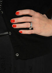 Tomato red nails are the new red nails — or so Monica has convinced us with this pretty manicure.
