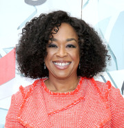 Shonda Rhimes was stylishly coiffed with voluminous curls at the EMILY's List Breaking Through event.