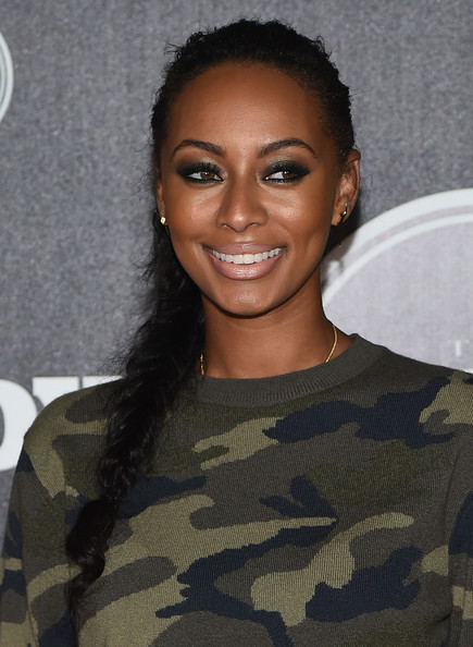 Keri Hilson contrasted her edgy outfit with a feminine braid during the ESPN's Body at ESPYs pre-party.