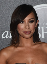 Cheryl Burke opted for a simple shoulder-length layered cut with side-swept bangs when she attended the ESPN's Body at ESPYs pre-party.