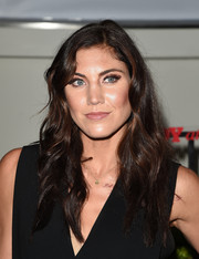 Hope Solo left her hair loose in a lovely wavy style for the Body at ESPYs pre-party.