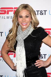 Adrienne Maloof brightened up her LBD with a beaded white scarf at the ESPN event.