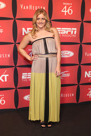 Raimi Merritt wore a strapless maxi-dress to the ESPN Next event.