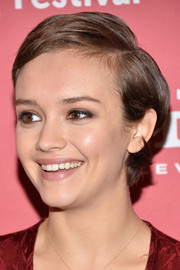 Olivia Cooke kept it casual with this short side-parted style at the Sundance Film Festival premiere of 'Me and Earl and the Dying Girl.'
