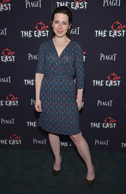 Heather Matarazzo looked classic in a print faux wrap dress at the premiere of 'The East.'