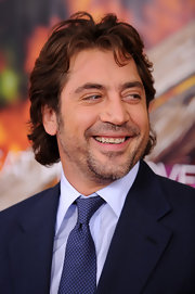 Javier Bardem showed off his short curls while hitting the 'Eat Pray Love' premiere.