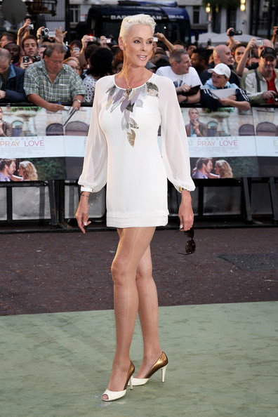 brigitte nielsen attends the eat pray love uk premiere at the