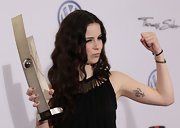 Lena posed for the cameras as she showed off her artistic tattoo.