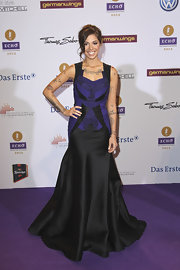 Christina Perri attended the 2012 Echo Awards in Berlin looking uber-glamorous in her stunning evening gown.