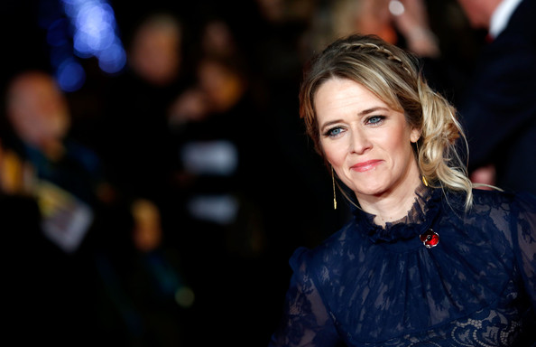 Edith Bowman Messy Updo [the hunger games: mockingjay part 1,hair,beauty,hairstyle,fashion,blond,cheek,eye,lip,electric blue,photography,edith bowman,odeon leicester square,england,london,red carpet arrivals,world premiere]