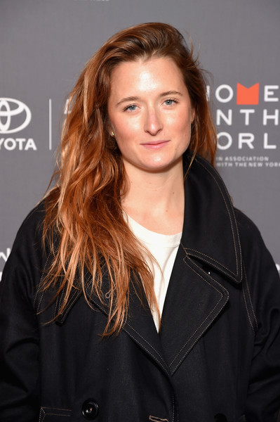 More Pics of Grace Gummer Smoking Slippers (2 of 5) - Flats Lookbook - StyleBistro [eighth annual women in the world summit,grace gummer,hair,hairstyle,brown hair,long hair,layered hair,premiere,blond,jacket,outerwear,hair coloring,lincoln center for the performing arts,new york city]
