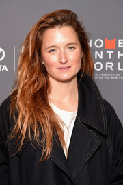 Grace Gummer attended the Women in the World Summit wearing her hair in messy-chic waves.