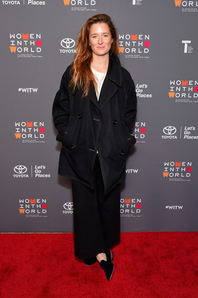 More Pics of Grace Gummer Smoking Slippers (1 of 5) - Flats Lookbook - StyleBistro [eighth annual women in the world summit,grace gummer,clothing,suit,premiere,formal wear,carpet,tuxedo,red carpet,pantsuit,outerwear,flooring,lincoln center for the performing arts,new york city]