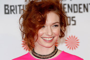 Eleanor Tomlinson Messy Updo