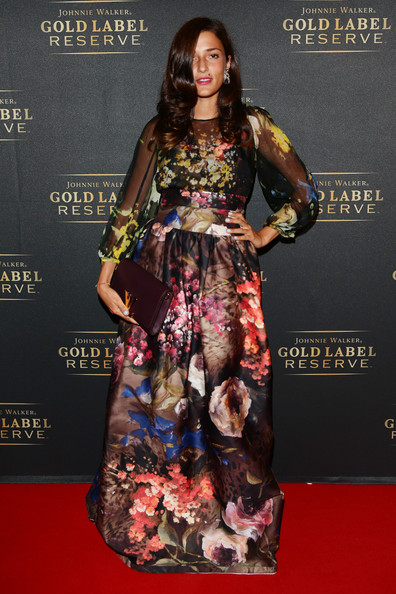 Eleonora Carisi Print Dress [red carpet,clothing,fashion model,carpet,fashion,dress,flooring,fashion design,formal wear,premiere,rankin,eleonora carisi,johnnie walker,reserve,johnnie walker gold label reserve,venice,vanity fair,label,rankin launch search for a new generation of rising stars,event]