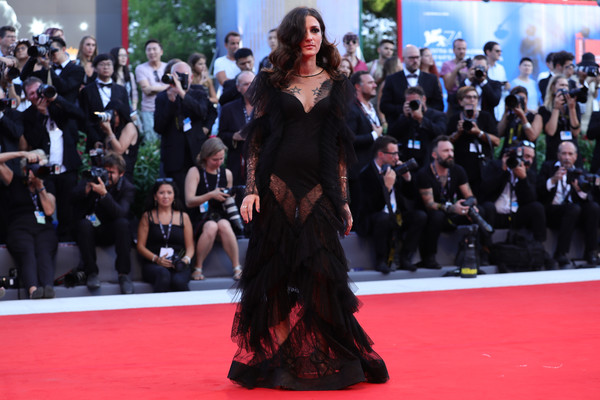 Eleonora Carisi Sheer Dress [red carpet,carpet,premiere,flooring,dress,event,fashion,public event,eleonora carisi,sala grande,red carpet,venice,italy,premiere,venice film festival,opening ceremony,screening]