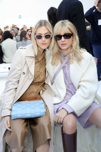 Eleonora Carisi Oval Sunglasses [show,eyewear,street fashion,clothing,fashion,beauty,snapshot,leg,outerwear,sunglasses,blond,max mara - arrivals,eleonora carisi,linda tol,front row,l-r,milan,italy,max mara,milan fashion week,sunglasses,fashion,long hair,hair m,clothing,fashion show,supermodel,coat,fur clothing,haute couture]