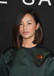 Nicole Warne looked fab wearing this asymmetrical cut at the Elie Saab Couture show.